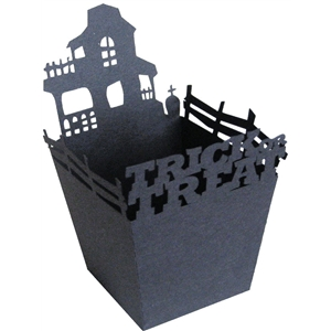 trick or treat haunted house candy box