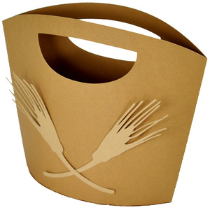 autumn wheat gift tote