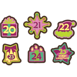 advent calendar ornament set 20-25 pnc