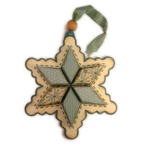 snowflake 3d six point star ornament