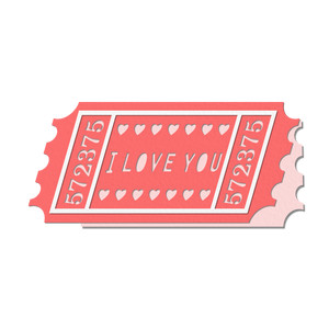 'i love you' cinema ticket card