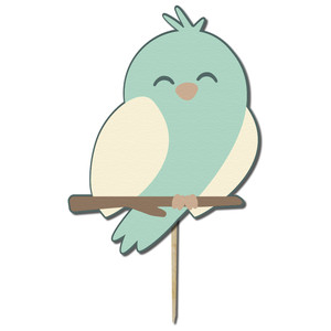 bird boy cupcake topper