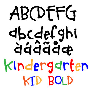 zp kindergarten kid bold