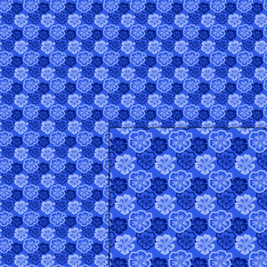 hibiscus blue pattern