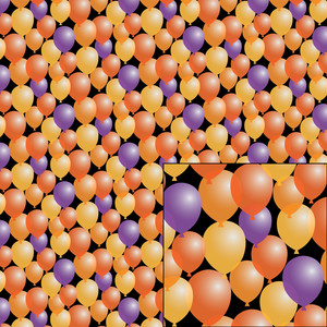 halloween balloon pattern