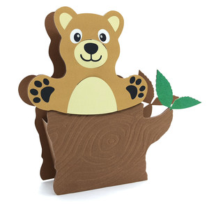 3d cute bear and tree box