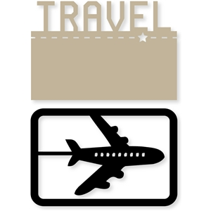airplane/travel card