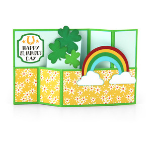 wiper card st. patrick's rainbow