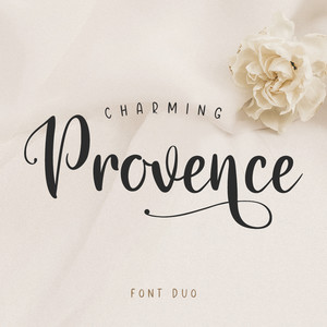 charming provence font duo