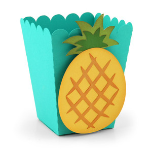 popcorn favor box pineapple