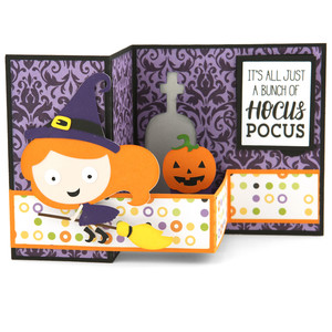 pop up box card halloween witch