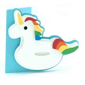unicorn float card