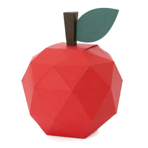 low poly apple box
