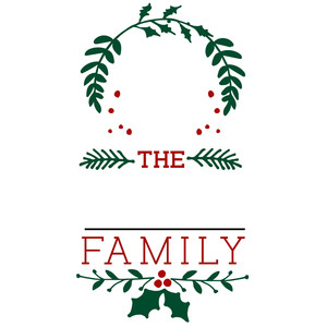 christmas family name frame sign