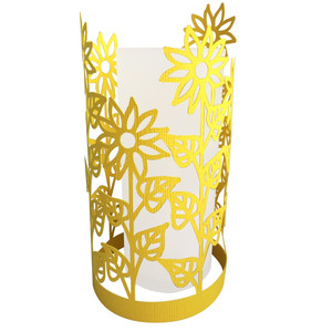 tall sunflower papercut lantern