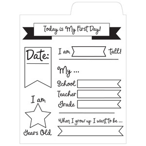 first day of school file card