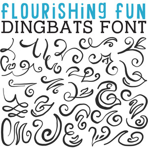 cg flourishing fun dingbats