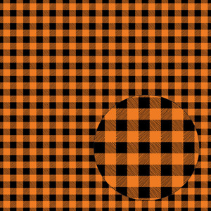 orange & black halloween seamless buffalo plaid