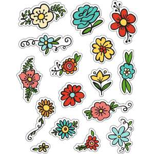 ml lovely blooms cutie stickers