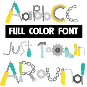 just toolin' around color font