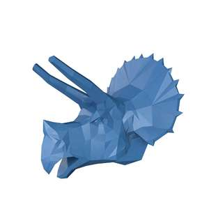 lowpoly triceratops dinosaur