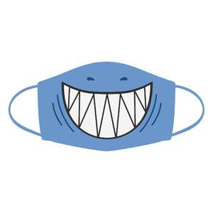 silly shark face mask