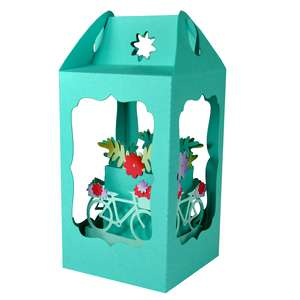 bicycle flowers filled lantern