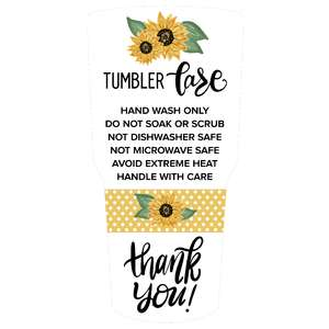 tumbler sunflower care card
