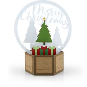3d snow globe card christmas tree