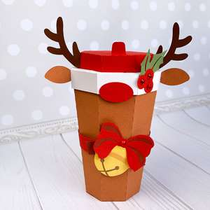 reindeer coffee cup box