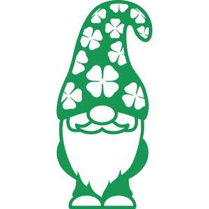 gnome with shamrocks hat