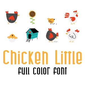 chicken little full color font