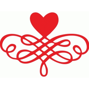heart scroll flourish