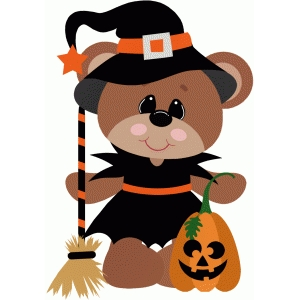 witch bear halloween costume