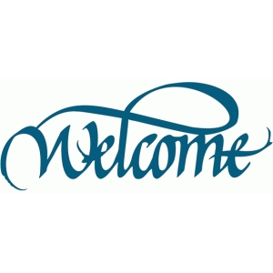 welcome - calligraphy