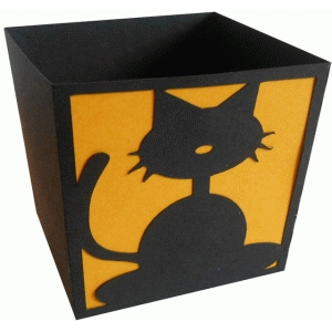 black cat candy box
