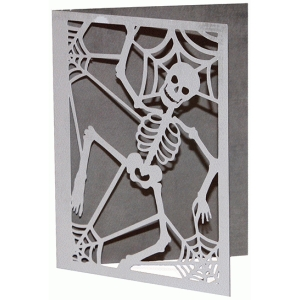 card halloween dancing skeleton