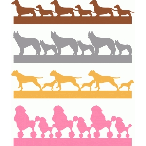 pet dogs borders set