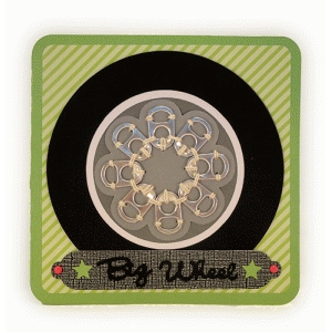 big wheel card pop tab hub cap