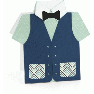 father's day bow tie & vest card