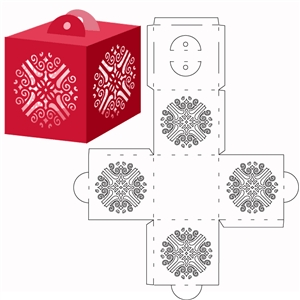 ornate cube ornament