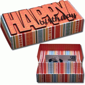 3d pop up gift card birthday box