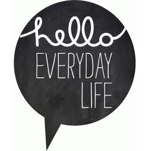 hello everyday life speech bubble