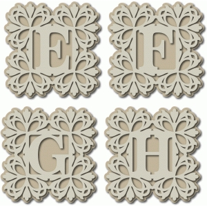 damask monogram efgh