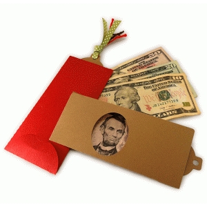 money gift folder window envelope