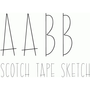 scotch tape sketch