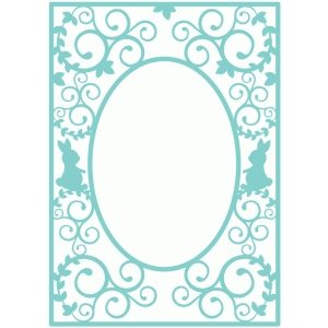 easter flourish frame background