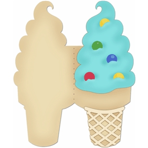card kit ice cream cone