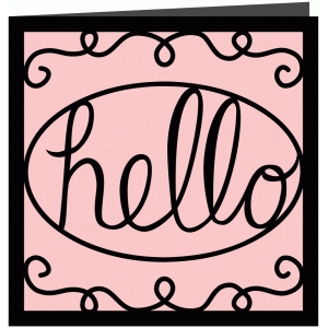 hello papercut greetings card