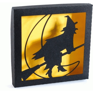 halloween witch shadowbox